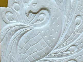 hand chiseled, Marble plaque