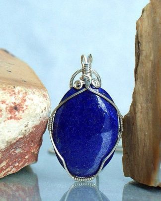 The crystal of truth, Lapis Lazuli pendant, gemstone necklace