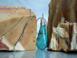 Blue Chrysocolla, Arizona mineral, gemstone pendant