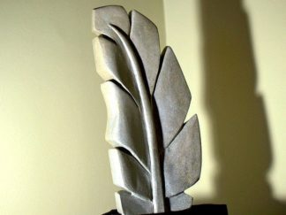 Sandstone sculpture,feather carving