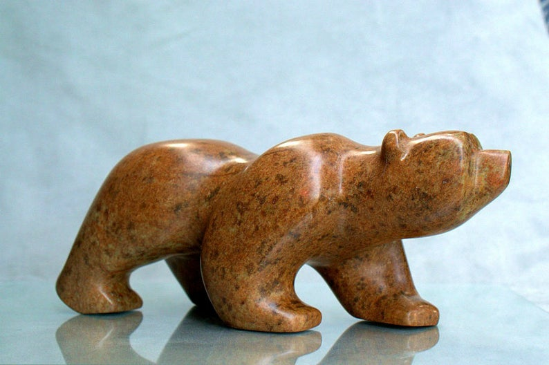 Soapstone bear sculpture