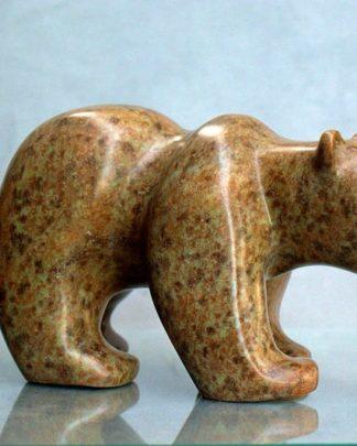 Hand carved bear figurine
