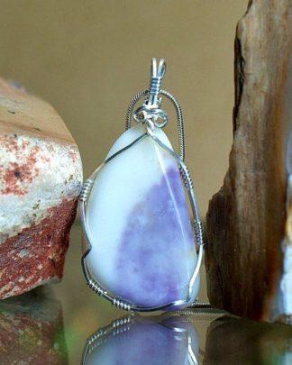 Lavender pattern, Tiffany stone necklace