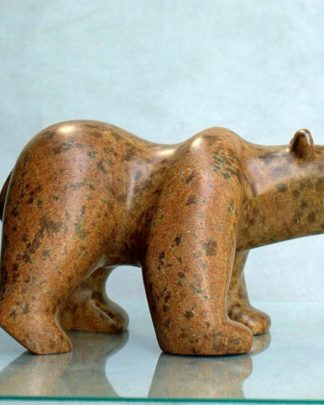 Bear stone figurine