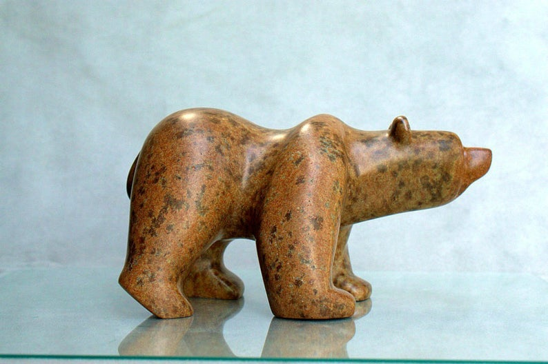 Bear stone figurine