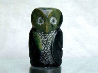 Small owl carving, soapstone figurine