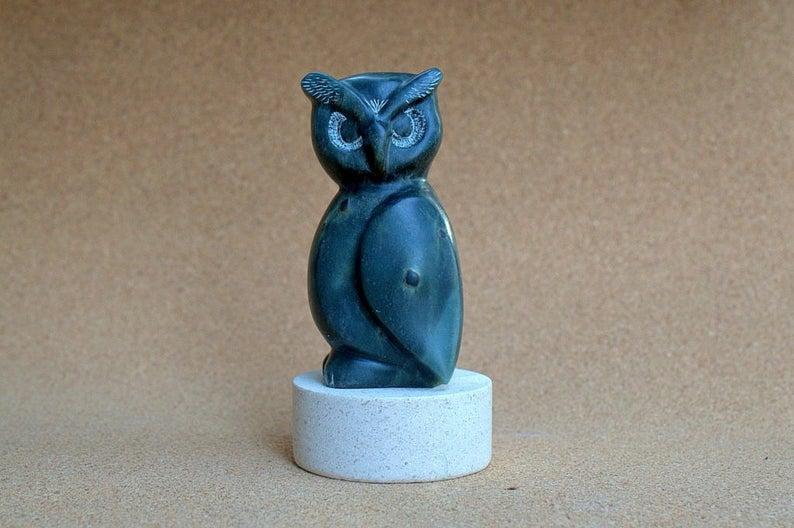 Owl stone figurine