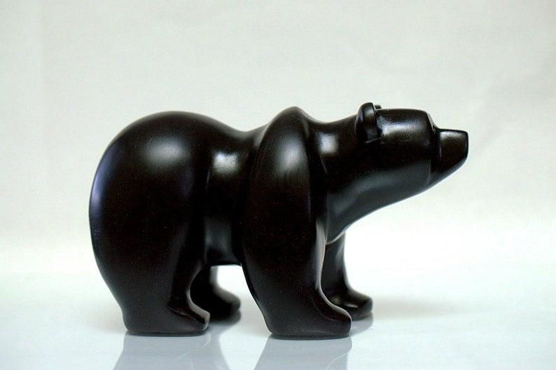 Black stone bear