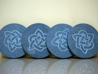 Celtic knots, hand carved stone coasters