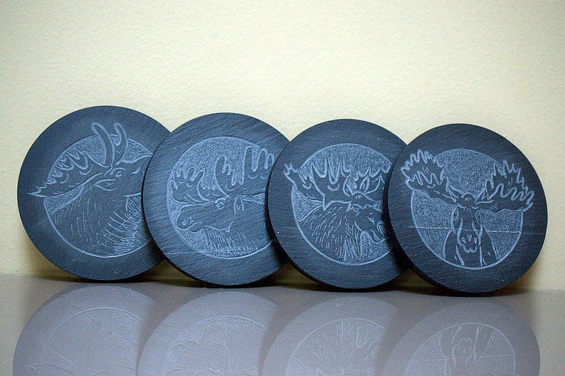 Canadian Moose,fantasy design,custom coaster set