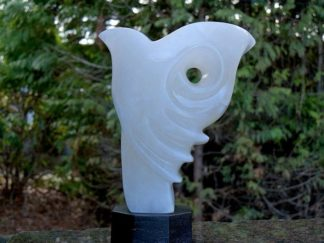 White stone art, abstract sculpture