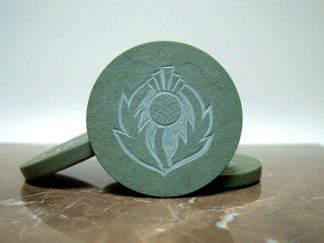 Scottish symbol,thistle design,stone coasters