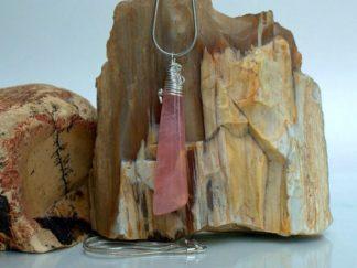 Rose Quartz pendant, pink gemstone jewelry