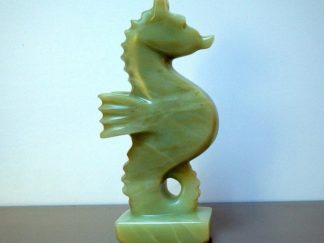 Seahorse sculpture, realistic style, carving