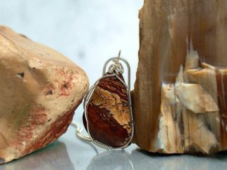 Biggs Jasper, natural gemstone hand polished pendant