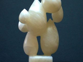 Alabaster sculpture white stone statue