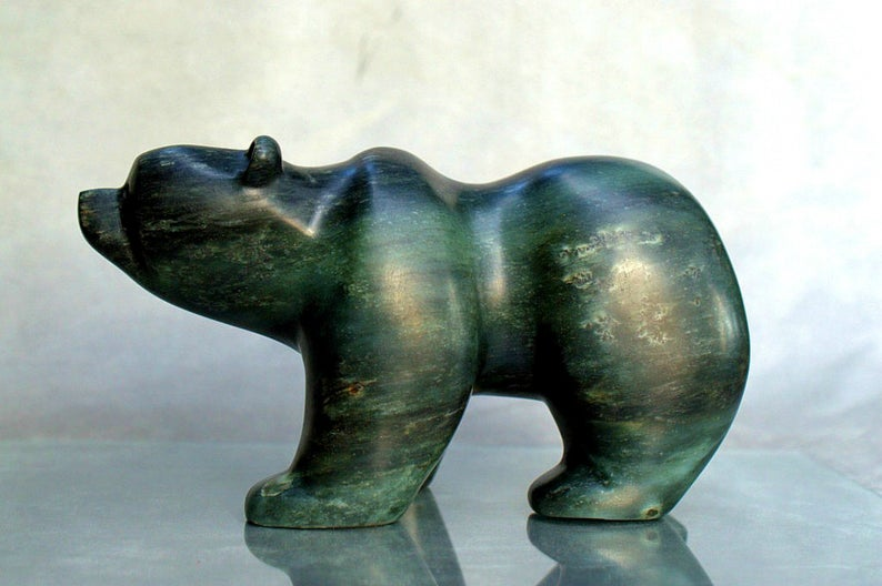 the bear sculpture makes a great display