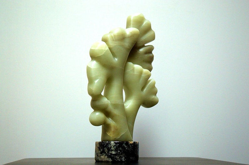 tree brunches soapstone sculpture