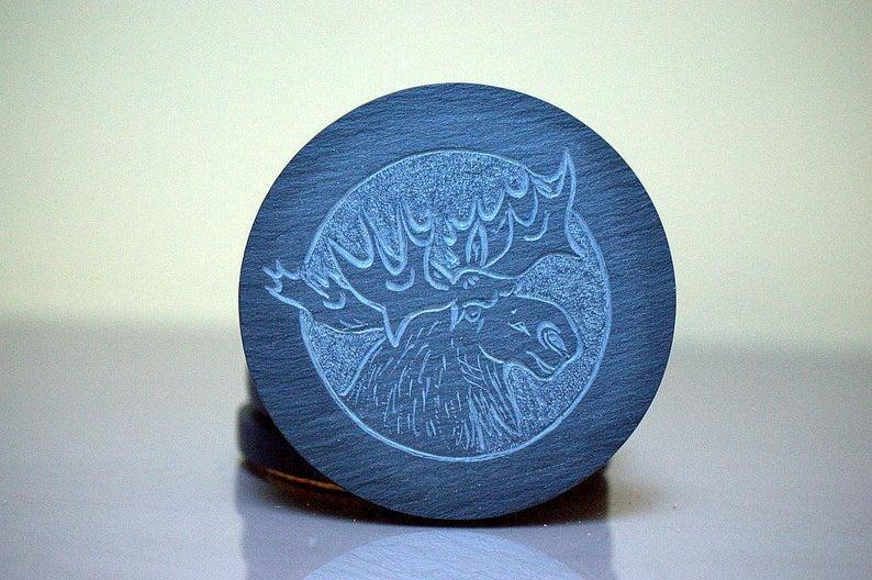 Canadian Moose, fantasy design, custom coasters