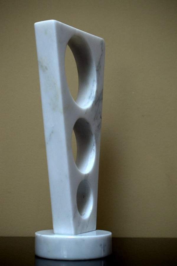 Natural marble abstract style modern sculpture