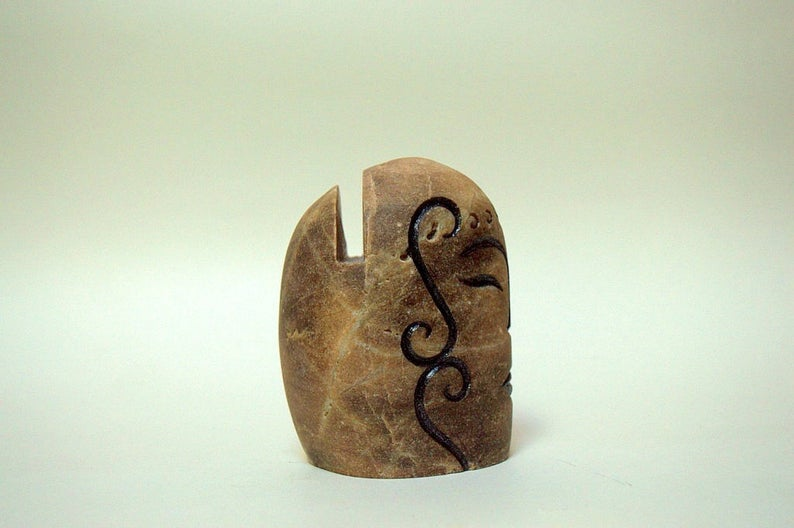 Business card holder stone display, paper weight
