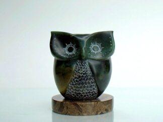 Fantasy design owl soapstone figurine