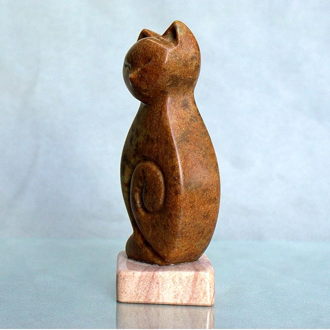 soapstone cat figurine