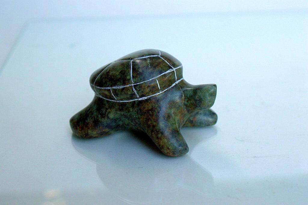 green stone figurine
