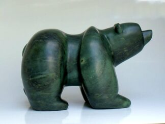 Green bear small soapstone sculpture