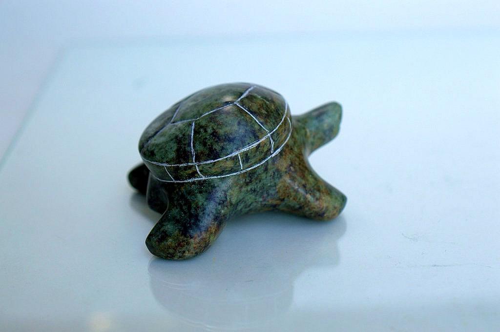 green stone turtle