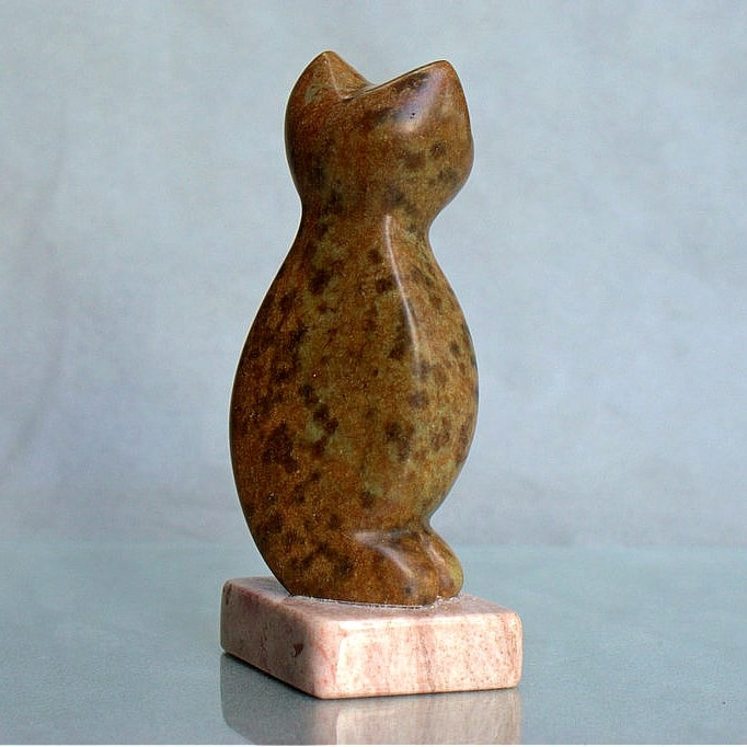 brown stone figurine
