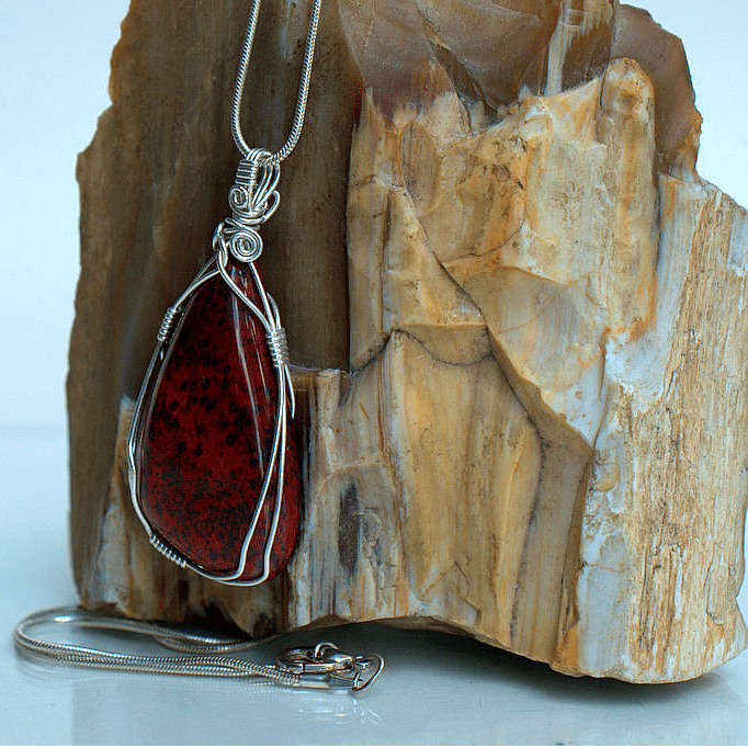 designed red jasper stone jewelry