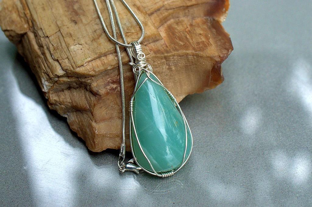 large green stone pendant