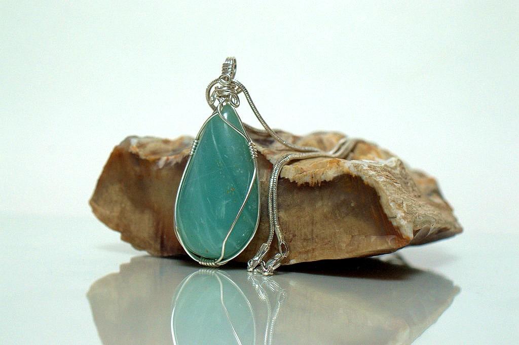 silver set green stone