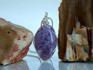Light purple sparkly mineral handmade jewelry