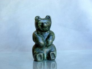 Bear cub stone carving