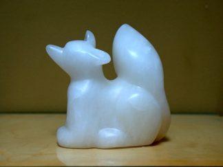 fox alabaster figurine