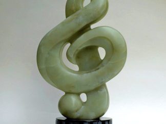 green soapstone sculpture