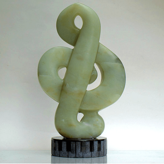 green stone carving