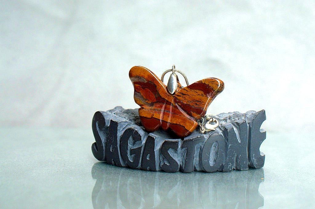 butterfly gemstone pendant