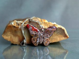 gemstone butterfly pendant