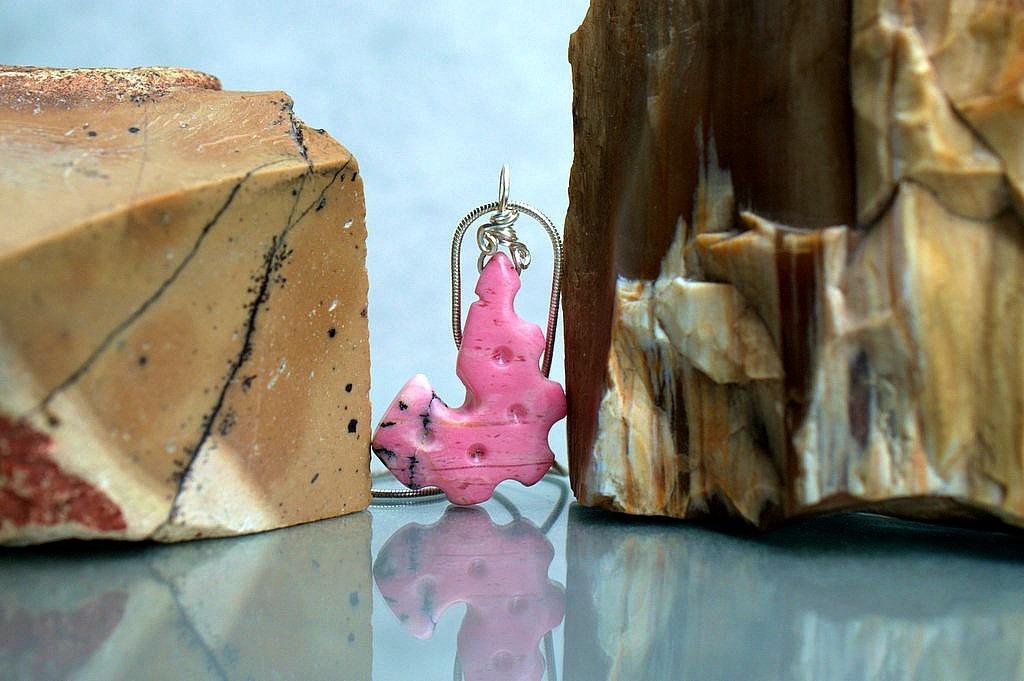 pink gemstone carving