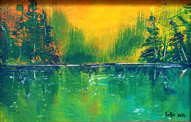 small landscape painting