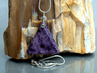 purple triangle shape stone