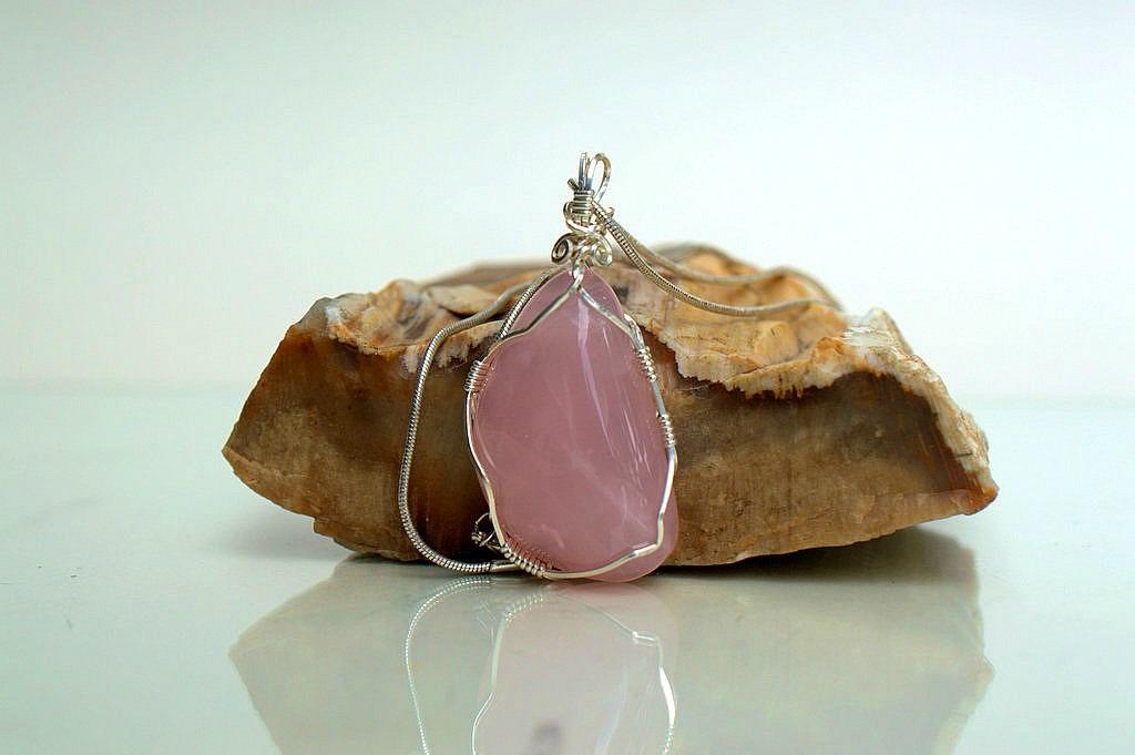 natural pink crystal
