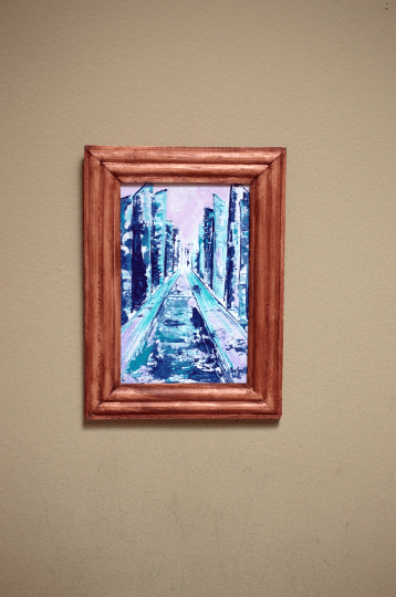 small size framed painting