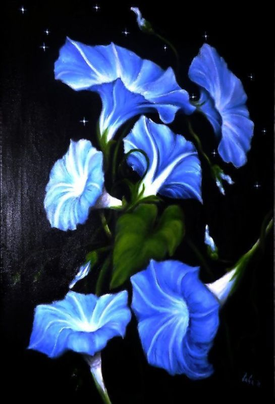 Morning glory flower painting