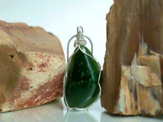 Designed handmade Jade pendant jewelry