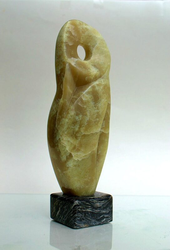 Green stone abstract, new small size sculpture