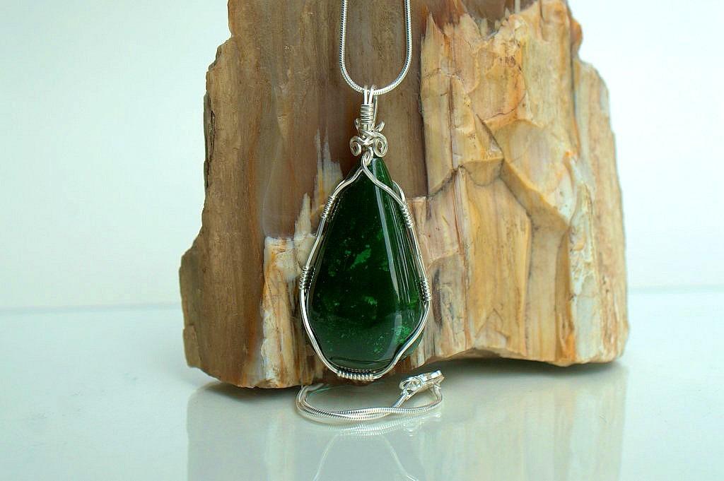Nephrite jade necklace unisex gemstone jewelry